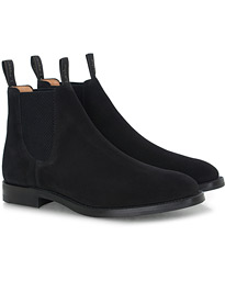 Chatsworth Chelsea Boot Black Suede