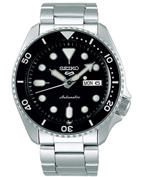 Seiko 5 Sports Mens 43mm 100m Automatic Steel/Black Dial
