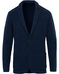 Polo Ralph Lauren Wool Blend Knitted Blazer Dark Navy Heather