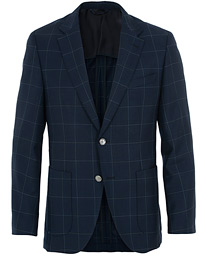 BOSS Janson Check Blazer Dark Blue