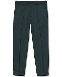 Filippa K Terry Gabardine Cropped Trousers Fern Melange