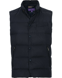 Ralph Lauren Purple Label Whitwell Matt Nylon Vest Chairman Navy