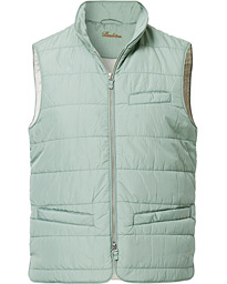 Stenströms Soft Quilted Nylon Vest Mint