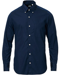 Finamore Napoli Tokyo Washed Button Down Shirt Dark Blue