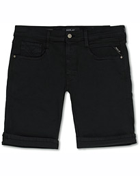 Replay Anbass Hyperflex Jeans Shorts  Black