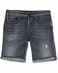 Replay RBJ901 Strech Shredded Jeans Shorts Five Year Wash