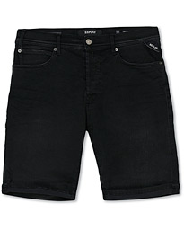 Replay RBJ901 Hyperflex Jeans Shorts Black