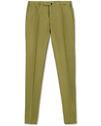 Incotex Slim Fit Chinolino Trousers Green
