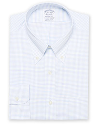 Brooks Brothers Regent Fit Non Iron Gingham Shirt Blue