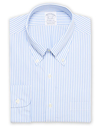 Brooks Brothers Regent Fit Non Iron Stripe Shirt Light Blue