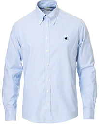 Brooks Brothers Milano Fit Non Iron Striped Shirt Light Blue