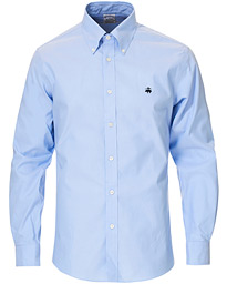 Regent Fit Non Iron Button Down Shirt Light Blue