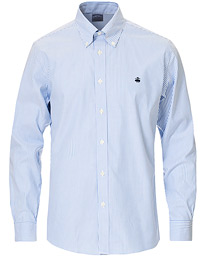 Regent Fit Non Iron Striped Shirt Light Blue