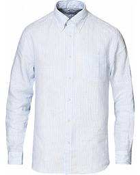 Brooks Brothers Regent Fit Irish Linen Button Down Shirt White/Blue