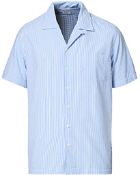Brooks Brothers Seersucker Camp Collar Shirt White/Blue