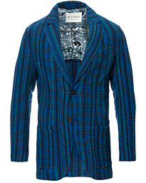 Etro Multi Colour Knitted Blazer Dark Blue