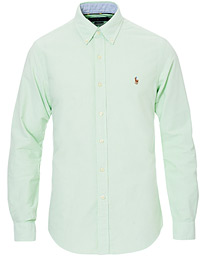Polo Ralph Lauren Slim Fit Oxford Contrast Shirt Lime
