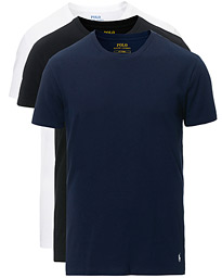 Polo Ralph Lauren 3-Pack Crew Neck Tee Black/Navy/White