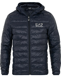 EA7 Train Core Light Down Hoodie Jacket Navy