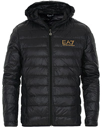 EA7 Train Core Light Down Hoodie Jacket Black/Gold