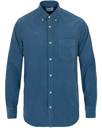 NN07 Levon Baby Corduroy Button Down Shirt Washed Navy