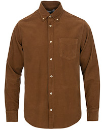 NN07 Levon Baby Corduroy Button Down Shirt Canela Brown
