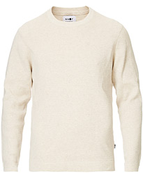 NN07 Julian Cotton Knitted Crew Neck Light Khaki