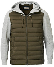 Herno Nylon Jersey Hybrid Jacket Military/Grey