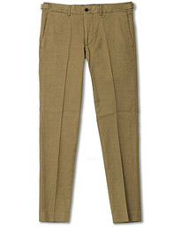 J.Lindeberg Grant Cotton/Linen Trousers Green