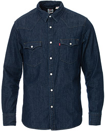Levi's Barstow Western Denim Shirt Rinse Marbled