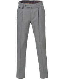 PT01 Gentleman Fit Pleated Wool Trousers Light Grey