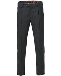 PT01 Gentleman Fit Pleated Wool Trousers Medium Grey