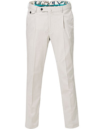 PT01 Gentleman Fit Pleated Cotton Trousers Beige
