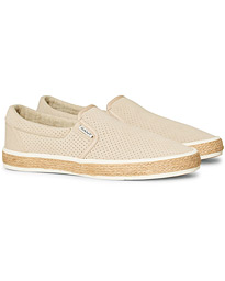 GANT Primelake Perforated Slip On Dry Sand Suede