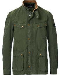 Barbour International Summer Wash Duke Casual Jacket Racing Green