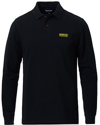 Essential Long Sleeve Polo Black