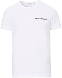 Chest Institutional Crew Neck Tee White