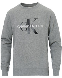 Iconic Monogram Crew Neck Sweatshirt Mid Grey Heather