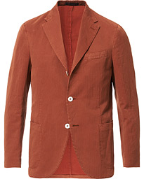 The Gigi Linen Herringbone Blazer Orange