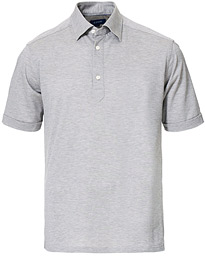 Eton Slim Fit Short Sleeve Pique Shirt Grey Melange