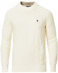 Morris Bogard Cable Knit Off White