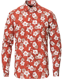 Morris Oliver Printed Flower Shirt Red