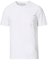 Tiger of Sweden Didelot Linen Pocket Crew Neck Tee White