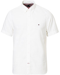 Tommy Hilfiger Slim Fit Cotton/Linen Short Sleeve Shirt White