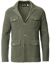 Morris Heritage Knitted Blazer Green
