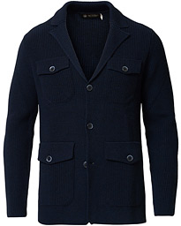 Morris Heritage Knitted Blazer Navy