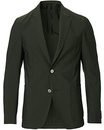 BOSS Nold Virgin Wool Seersucker Suit Blazer Green