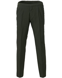 BOSS Brider Wool Seersucker Drawstring Suit Trousers Green