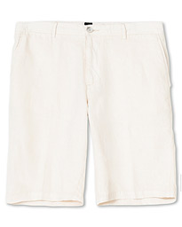 BOSS Rigan Linen Shorts Natural