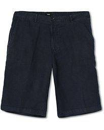 BOSS Rigan Linen Shorts Dark Blue